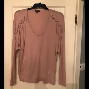 EXPRESS Dusty Rose Dolman Top